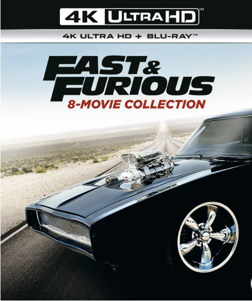 Fast and furious 1-8 box 4K UHD HDR bluray (import med svensk text)