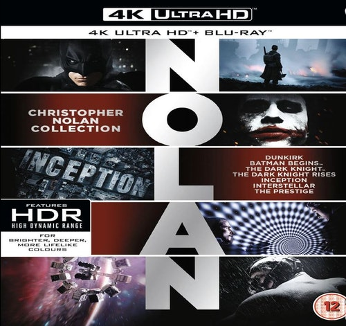 Christopher Nolan Collection 4K Ultra HD (import med svensk text)