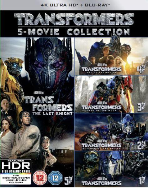 Transformers 1-5 Movie Collection (5 Films) 4K Ultra HD (import med svensk text)