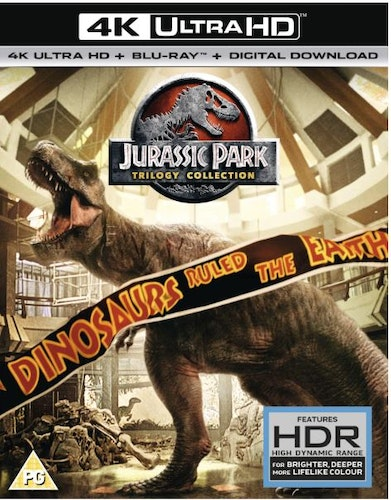 Jurassic Park (3 Film) Collection 1 - 3 4K Ultra HD (import med svensk text)