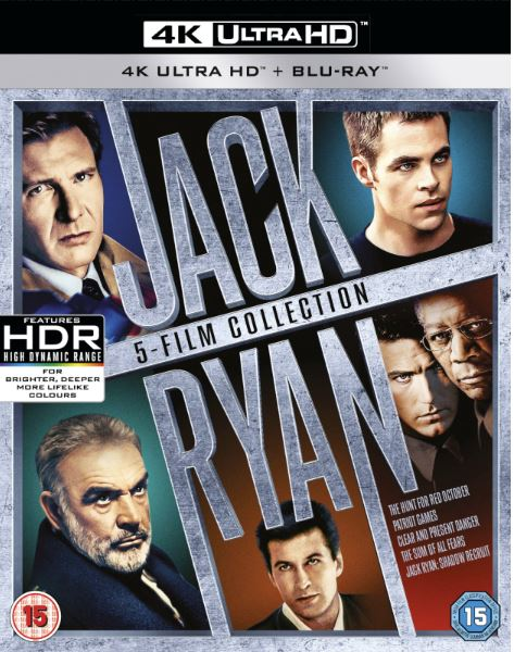 Jack Ryan collection Box (5 Filmer) - 4K Ultra HD (import med svensk text)