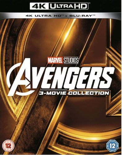 Avengers 1-3 Movie Collection 4K Ultra HD (import Sv text)