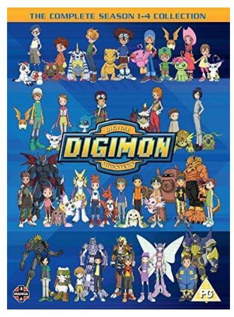 Digimon - Digital Monsters Season 1 to 4 2003 DVD (import)