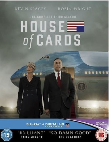 House Of Cards Säsong 3 bluray (import med svensk text)