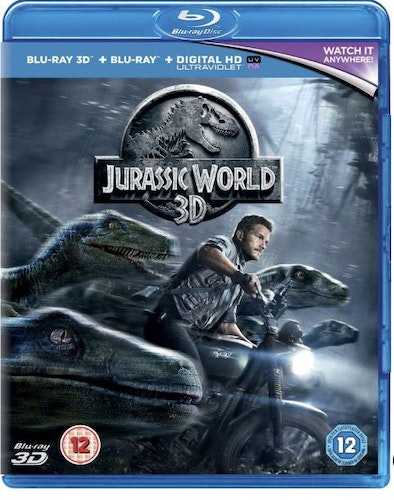 Jurassic World 3D bluray (endast 3D versionen, import Sv text)