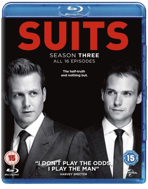 Suits säsong 3 bluray (import med svensk text)