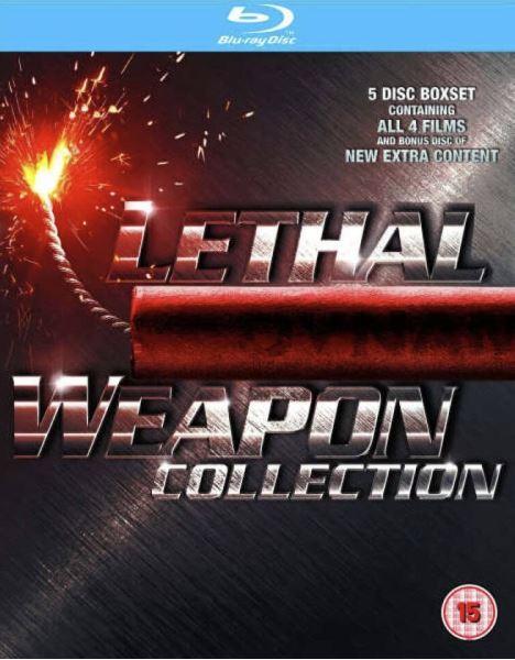 Lethal weapon 1-4/Dödligt vapen bluray import Sv text)