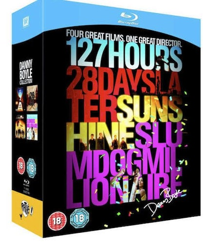 127 Hours + 28 Days Later + Sunshine + Slum Dog Millionaire box bluray (import med svensk text)