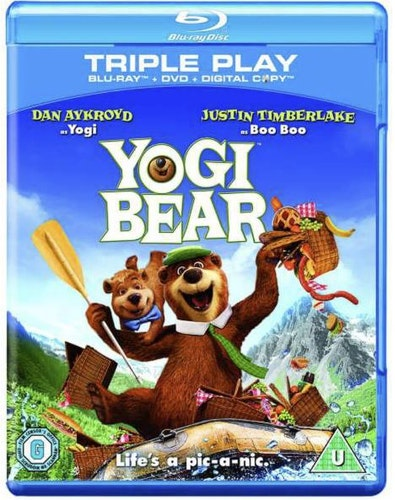 Yogi Bear/björn  bluray (import med svenskt tal+text)