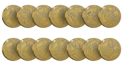 Marvel Commemorative Collector's Coin (Set of 14)