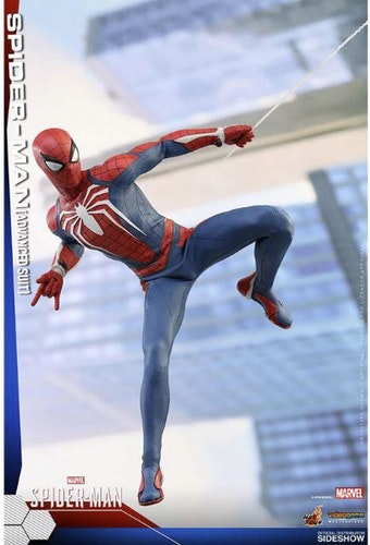 Marvel's Spider-Man Videogame Masterpiece Action Figure 1/6 Spider-Man Advanced Suit 30cm