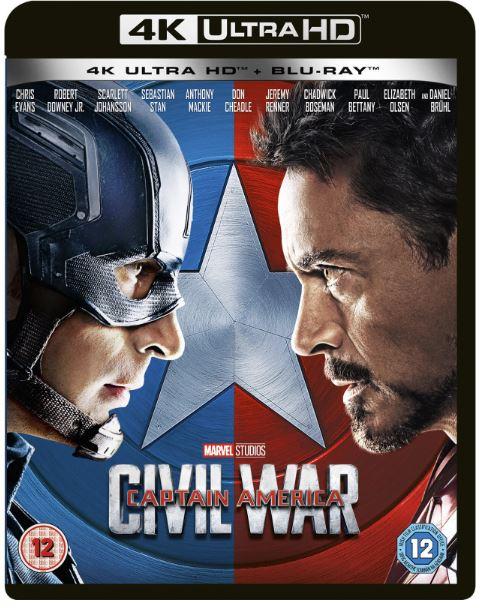 Captain America 3 - Civil War 4K Ultra HD + Bluray