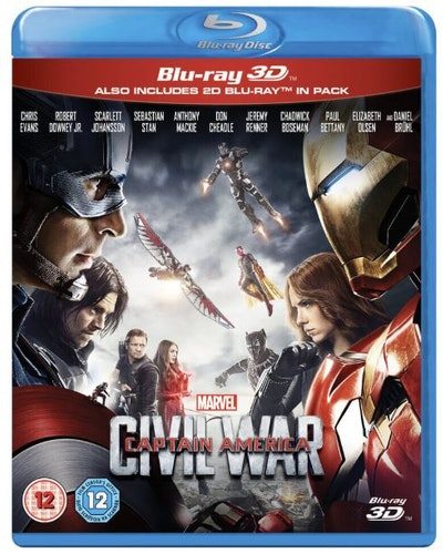 Captain America - Civil War 3D (import Sv text) bluray