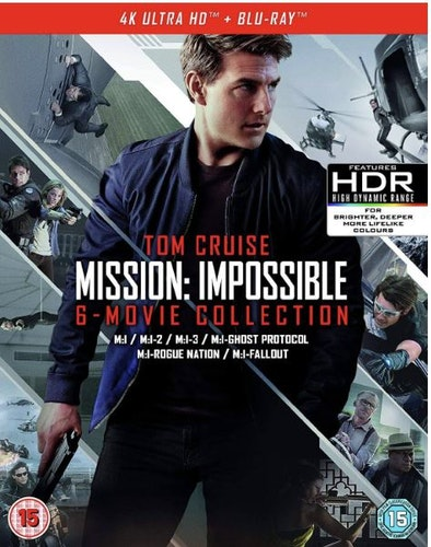 Mission: Impossible - The 6-Movie Collection - 4K Ultra HD (4K UHD + Blu-ray + Bonus Disc) import med svensk text