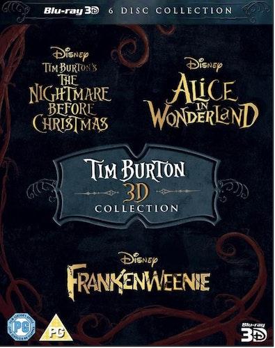 Tim Burton - The Nightmare Before Christmas 3D + Alice In Wonderland 3D + Frankenweenie 3D (import) bluray
