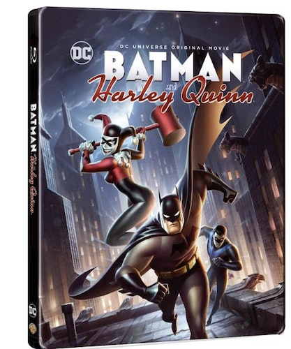 DC Batman And Harley Quinn Steelbook (import Sv text) bluray