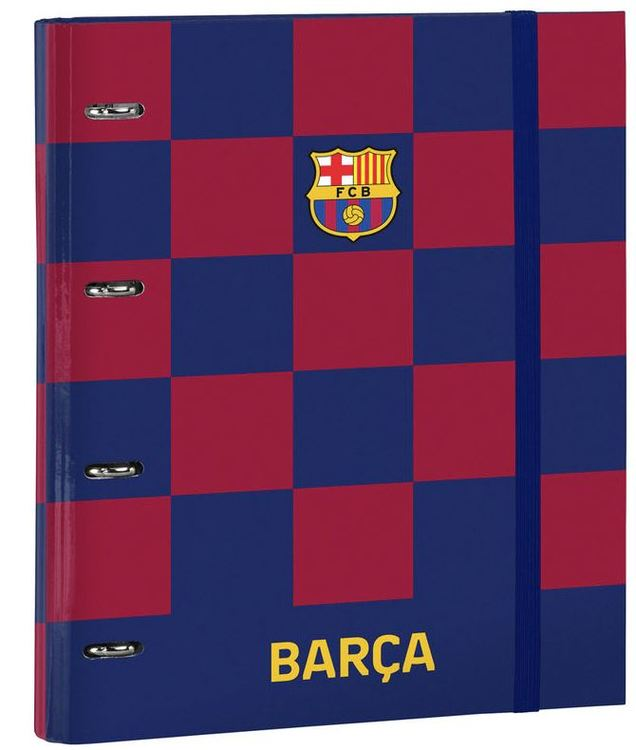 F.C. Barcelona A4 cardboard ring binder with sheets