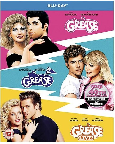 Grease + Grease 2 + Grease Live - Anniversary Edition (import med svensk text)