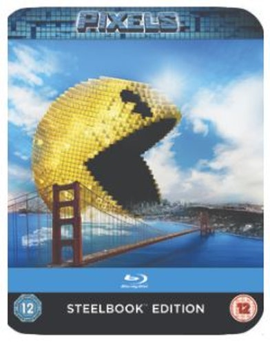 Pixels Steelbook bluray (import med sv text)