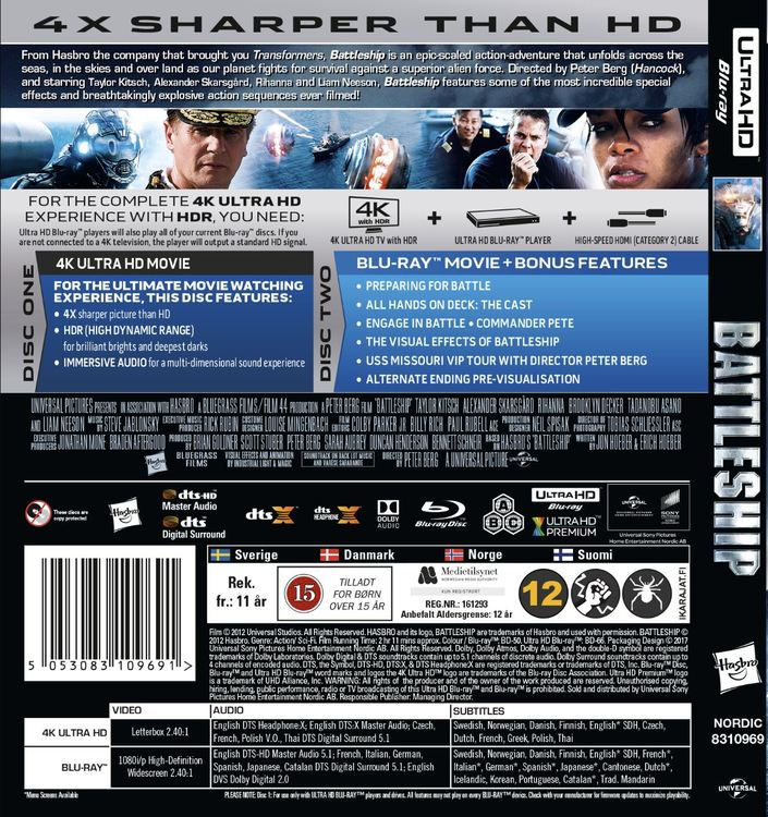 Battleship 4K UHD bluray