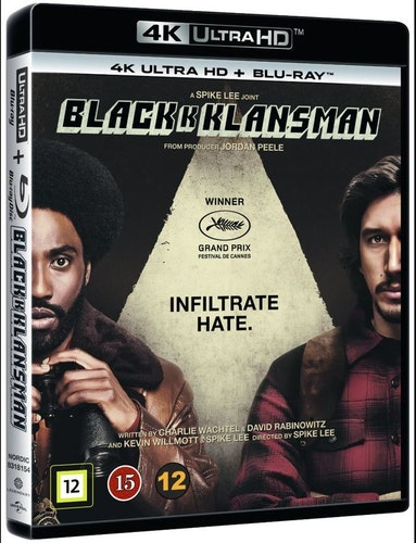 BlacKkKlansman 4K UHD bluray