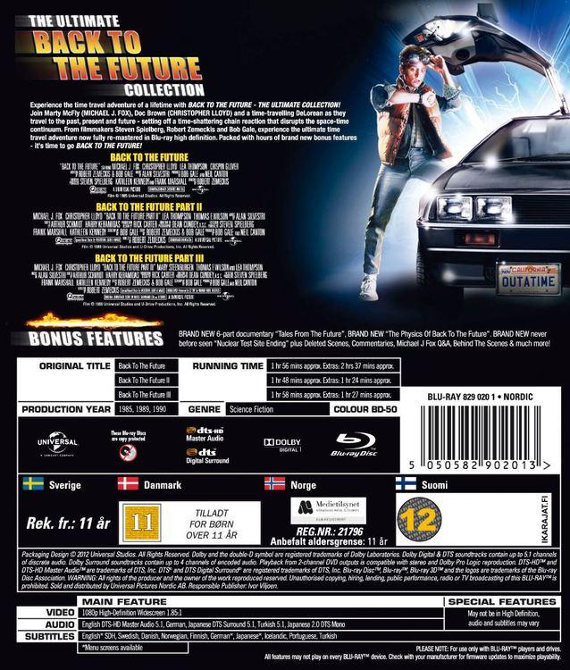 Back to the future/tillbaka till framtiden 1-3 Box bluray