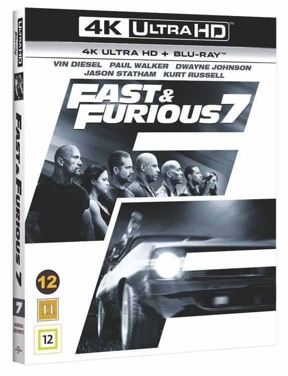 Fast & Furious 7 4K UHD bluray