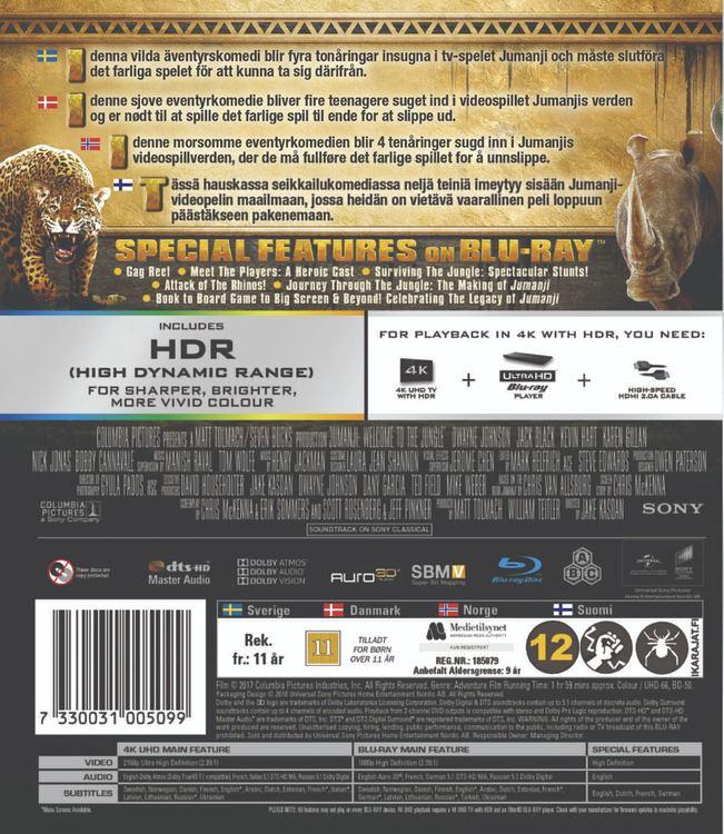 Jumanji Welcome To The Jungle 4K Ultra HD