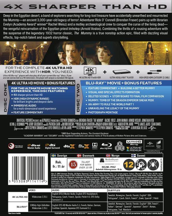 The Mummy (1999) 4K UHD bluray