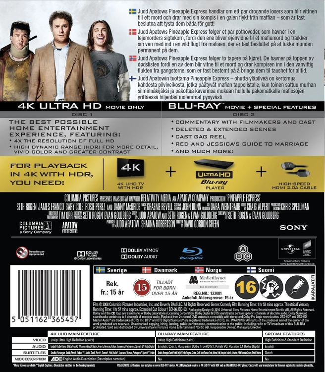 Pineapple Express 4K UHD bluray