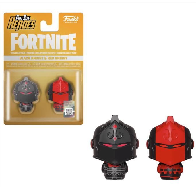 Pack figures Pint Size Fortnite Black Knight & Red Knight