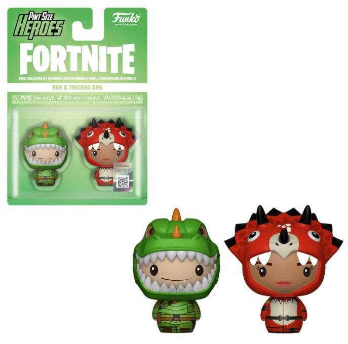 2 figures Pint Size Fortnite Rex & Tricera Ops