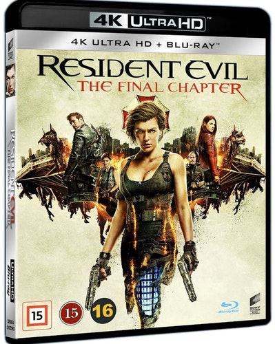 Resident Evil: The Final Chapter 4K UHD bluray