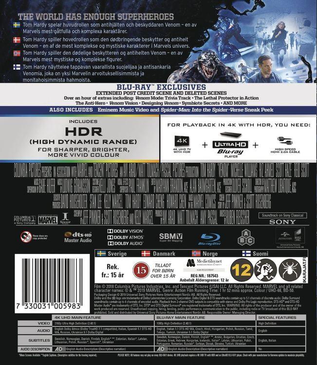 Venom 4K UHD bluray