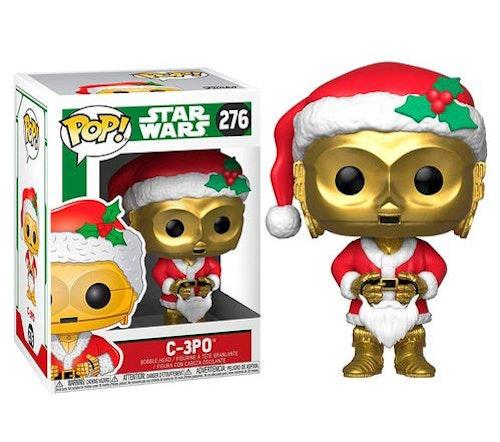 POP figur Star Wars Holiday C-3PO utklädd till tomte