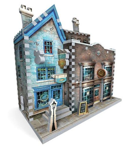 Harry Potter Ollivanders wand shop & Scribbulus 3D puzzle
