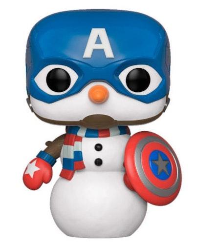 Marvel POP figur Kapten America som snögubbe