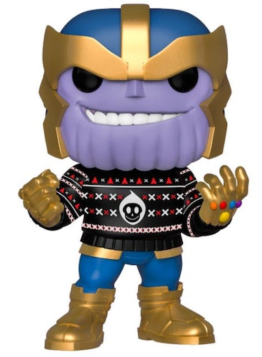 Marvel POP figur Thanos med jultröja
