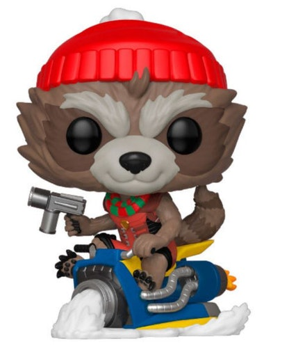 Marvel POP figur Rocket med julkläder