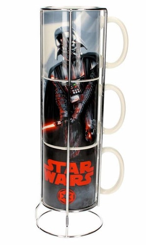 Porslinsmugg Star Wars Darth Vader staplingsbara 3-pack