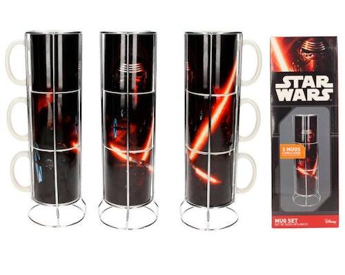 Porslinsmugg Star Wars Kylo Ren staplingsbara 3-pack