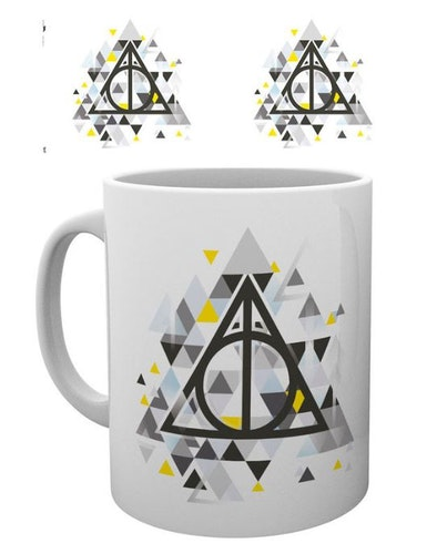 Keramik mugg Harry Potter Deathly Pixels
