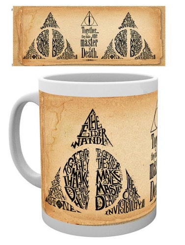 Keramik mugg Harry Potter Deathly Hallows Ord