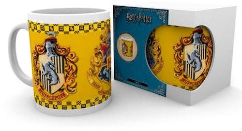 Keramik mugg Harry Potter Hufflepuff emblem