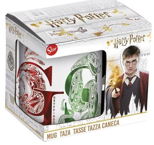 Keramik mugg Harry Potter Alla husen