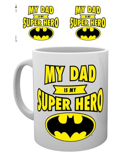 Mugg Batman My dad is my superhero
