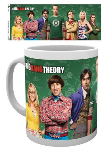 Mugg The Big Bang Theory alla huvudrollsinnehavarna