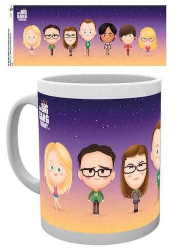 Mugg The Big Bang Theory alla karaktärerna