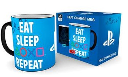 Mugg Playstation Eat, sleep, play, repeat