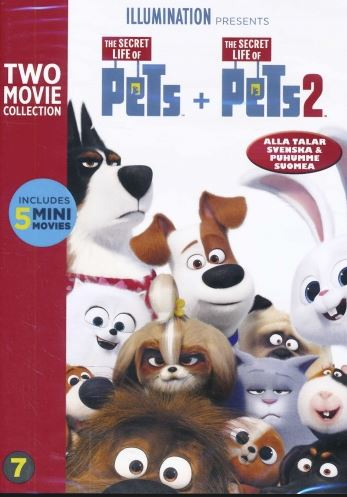 Husdjurens hemliga liv 1+2 DVD